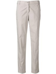 Emporio Armani Slim Fit Cropped Trousers Grey