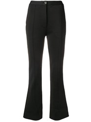 Givenchy High Waisted Flared Trousers Black