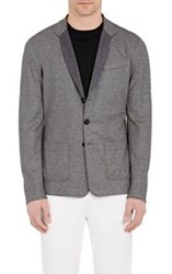 Giorgio Armani Textured Knit Sportcoat Colorless Size 42 Regular