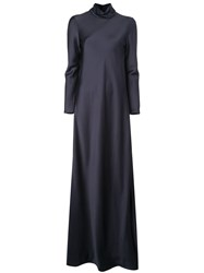 Maison Rabih Kayrouz Cowl Neck Dress Blue