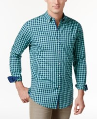 Club Room Men's Gingham Shirt Only At Macy's Neptune Beso