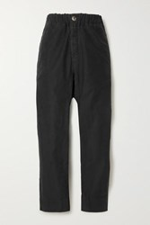 Bassike Cotton Track Pants Black