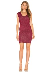 Velvet By Graham And Spencer Abena Scoop Neck T Shirt Dress Burgundy