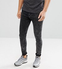 Brooklyn Supply Co. Co Muscle Fit Jeans Acid Wash Black Acid