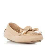 Dune Genovia Unlined Soft Moccasin Loafers Tan