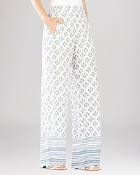 Bcbgmaxazria Joan Printed Wide Leg Pants Canvas Combo
