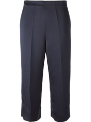 Erika Cavallini Semi Couture 'Florence' Cropped Trousers Blue