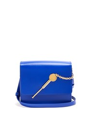 Sophie Hulme Cocktail Stirrer Small Leather Cross Body Bag Blue