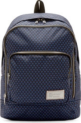 Marc By Marc Jacobs Black And Blue Printed Summer Scarf Backpack
