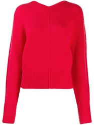 Isabel Marant Oversized Knitted Sweater Red