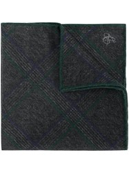 Canali Checked Handkerchief Grey