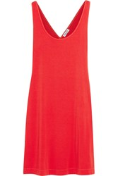 Splendid Crossover Back Stretch Jersey Mini Dress Tomato Red