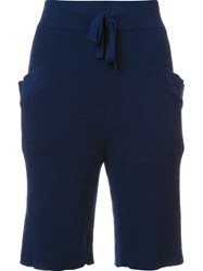 Baja East Drawstring Shorts Blue