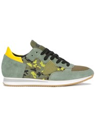 Philippe Model Tropez Camouflage Sneakers Green