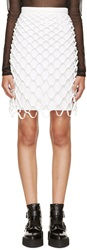 Dion Lee White Silk Cut Out Skirt