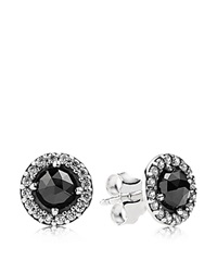 Pandora Design Pandora Earrings Sterling Silver Spinel And Cubic Zirconia Glamorous Legacy Stud