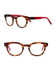 Eyebobs Waylaid 87 46Mm Round Reading Glasses Tortoise Red