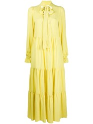 8Pm Tiered Maxi Dress Yellow