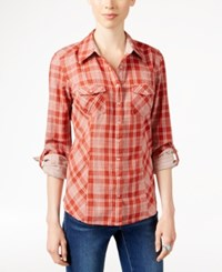 Styleandco. Style Co. Plaid Button Front Shirt Only At Macy's Seabird Plaid
