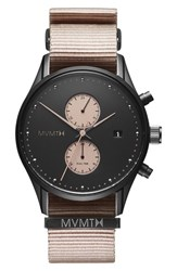Mvmt Voyager Chronograph Canvas Strap Watch 42Mm