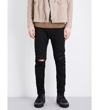 Julius Distressed Slim Fit Skinny Jeans Black