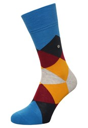 Burlington Clyde Socks Manganese Bloom Blue