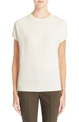 Women's Theory 'Arshelle' Cap Sleeve Cashmere Tee Ivory