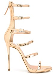 Giuseppe Zanotti Design Strappy Stiletto Sandals Yellow And Orange