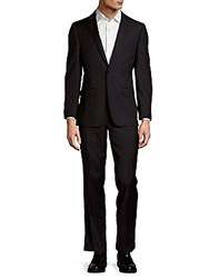 Dkny Wool Buttoned Suit Navy