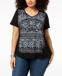 Styleandco. Style Co Plus Size Graphic Top Created For Macy's All Over Mandalla