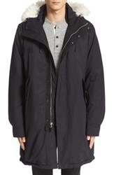 Rag And Bone Men's 'Bullet' Genuine Shearling Trim Hooded Down Parka