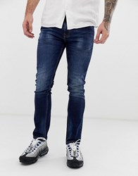 Voi Jeans Skinny In Dark Washed Blue