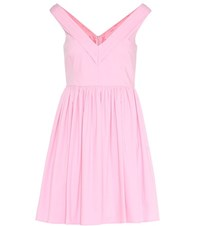Red Valentino V Neck Dress Pink