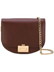 Victoria Beckham Chained Cross Body Bag Women Calf Leather One Size Brown