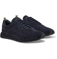 Officine Creative Race 17 Suede Sneakers Navy