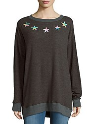Wildfox Couture Star Print Heathered Tee Dirty Black