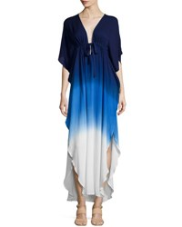 Young Fabulous And Broke Julie Ombre Drawstring Maxi Dress Navyblu