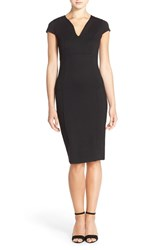 Women's Felicity And Coco V Neck Ponte Knit Midi Sheath Dress Nordstrom Exclusive