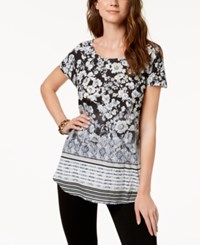Styleandco. Style Co Printed T Shirt Created For Macy's Gardening