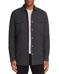 Sovereign Code Redding Quilted Regular Fit Shirt Jacket Klein Charcoal Gray