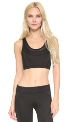 Solow Dotted Herringbone Sports Bra Black