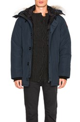 Canada Goose Chateau Parka With Coyote Fur In Blue