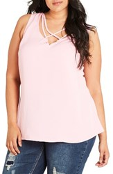 City Chic Plus Size Women's Strappy Lover Tank Musk