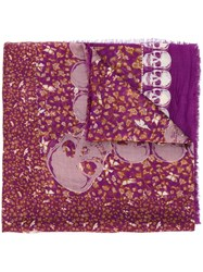 Zadig And Voltaire 'Kerry' Scarf Pink And Purple