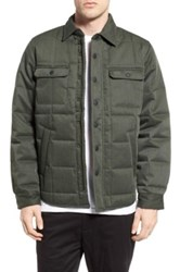 Deus Ex Machina 'James' Quilted Shirt Jacket Green