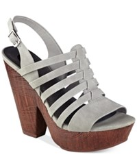 G By Guess Seany Platform Sandals Women's Shoes Dark Grey