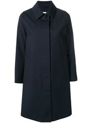 Mackintosh Navy Wool Storm System Coat Lm 020Bs Sh Blue