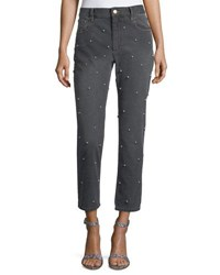 Etoile Isabel Marant Califfy Studded High Rise Denim Jeans Gray