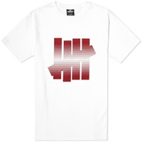 Undefeated 5 Strike Fade Tee White