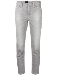 Cambio Cropped Jeans Grey